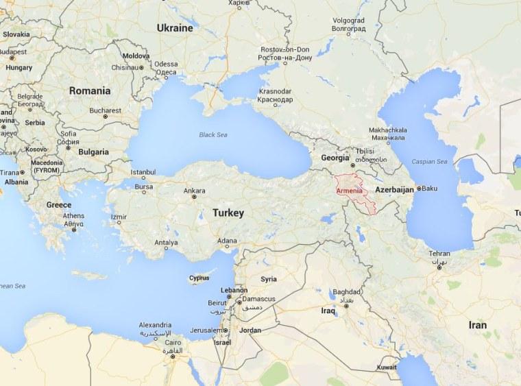 Image: Map showing Armenia