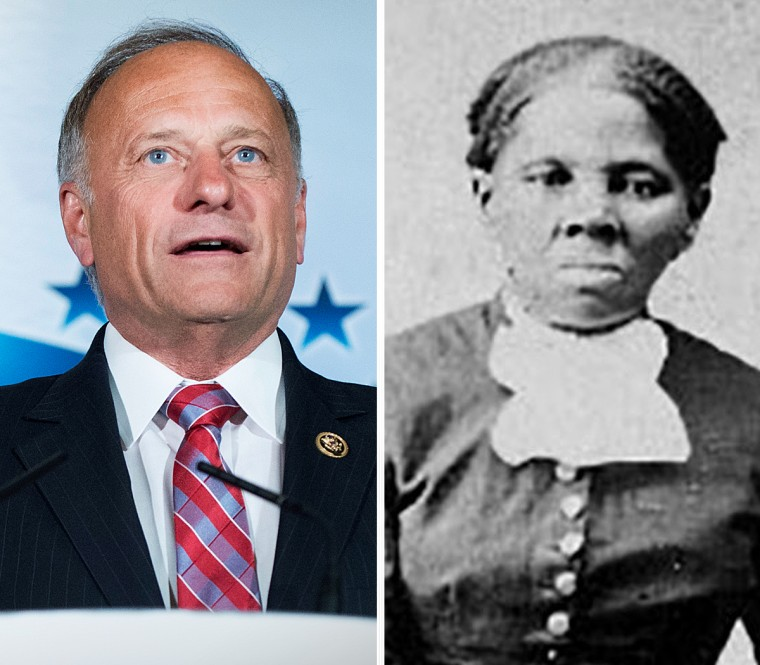 Rep. Steve King, R-Iowa, and Harriet Tubman