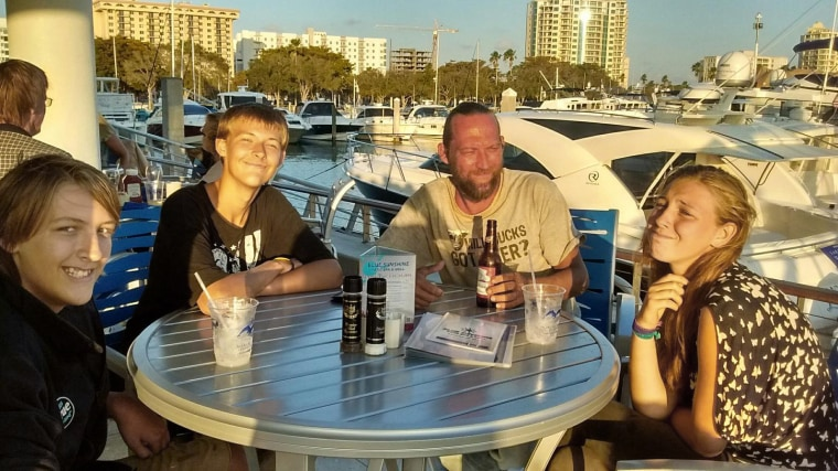 The U.S. Coast Guard tweeted this photo of a family missing west of Sanibel Island, Fla.