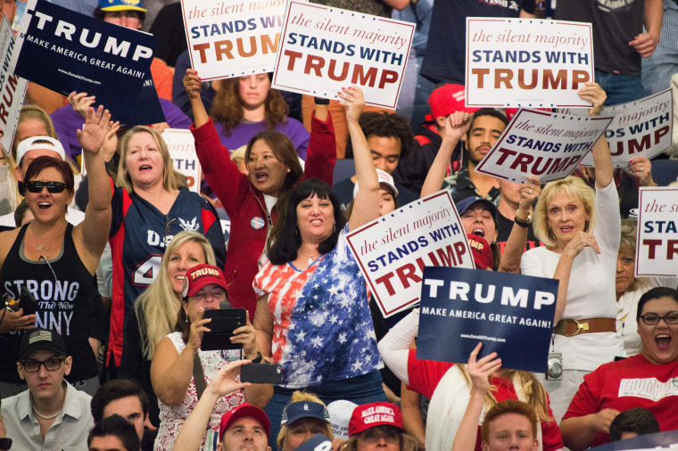 Image: Supporters of the presumptive Republican presidential candidate Donald Trump
