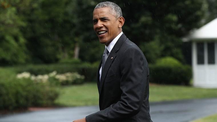 President Obama Arrives Back To The White House