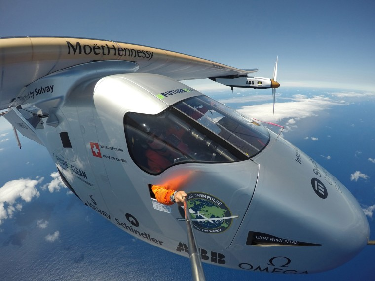 Image: Solar Impulse 2 on final leg of round-the-world flight