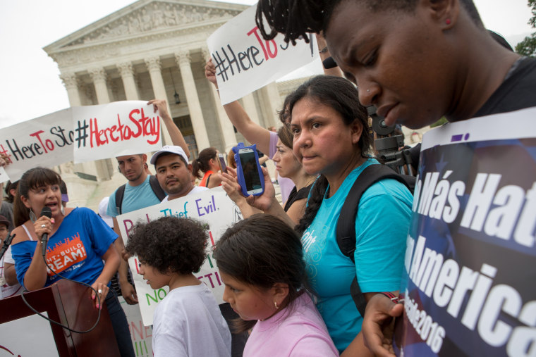 Supreme Court ruling split on Pres. Obama's expanded immigration executive actions.