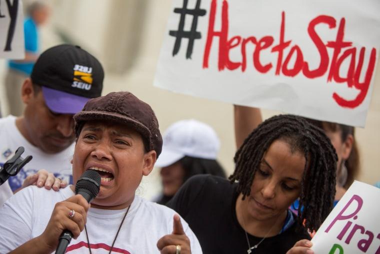 Rosario Reyes, an undocumented mother from El Salvador
