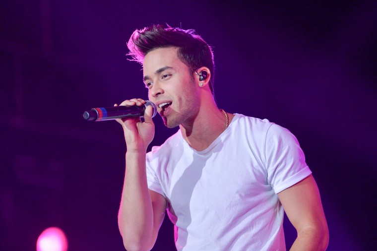 Prince Royce Performs at Grand Slam Party Latino