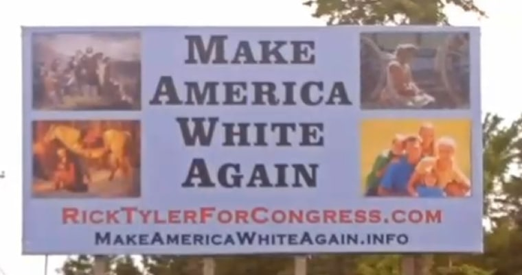 Rick Tyler's campaign billboard seen in  Polk County, Tennessee.