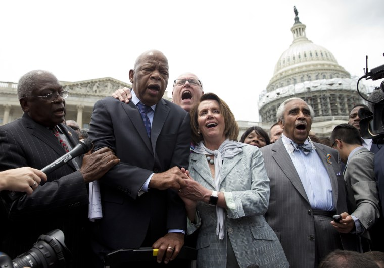 IMAGE: House Democrats after sit-in
