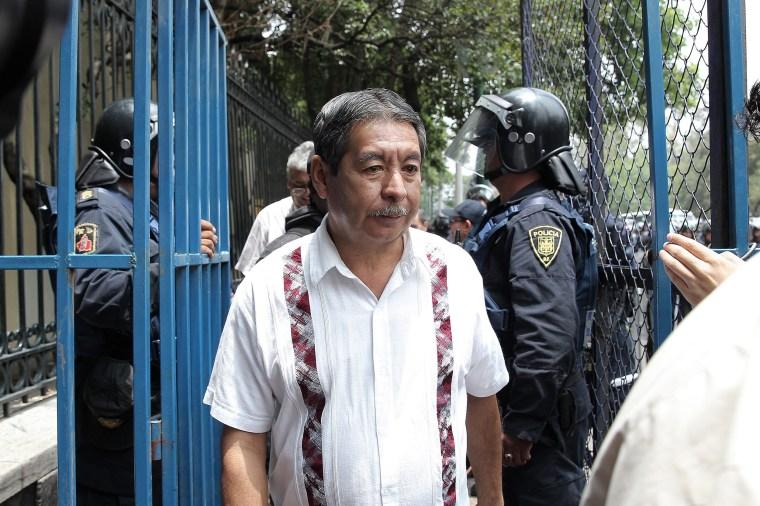 Image: CNTE Union teacher leader Ruben Nunez arrested