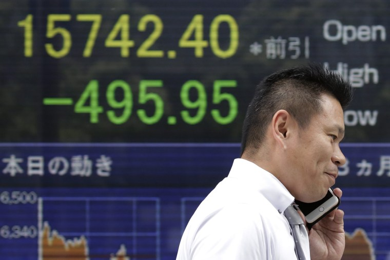 Image: Tokyo stocks in reaction to the EU referendum