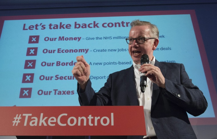 Image: Michael Gove on June 4, 2016