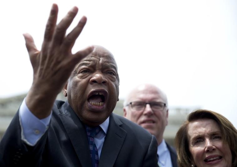 Image: John Lewis, Nancy Pelosi, Joseph Crowley