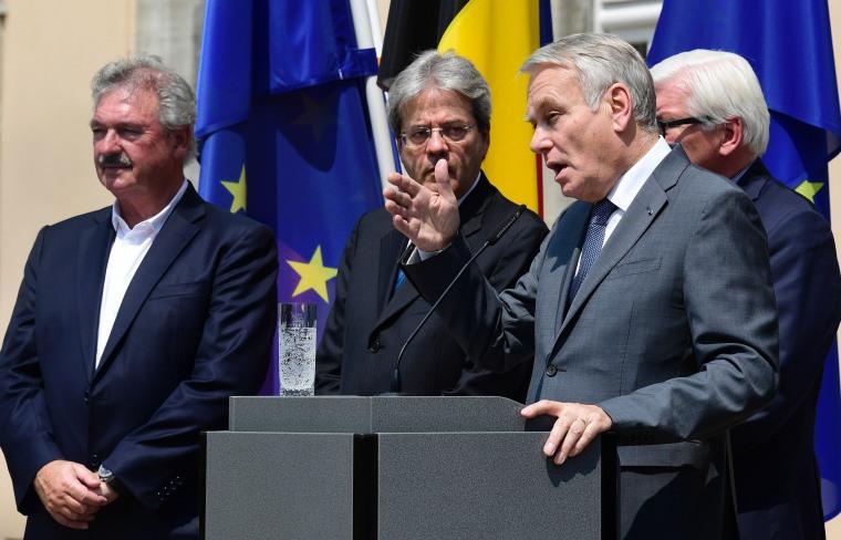 Image: Jean-Marc Ayrault, Jean Asselborn, Paolo Gentiloni and Frank-Walter Steinmeier