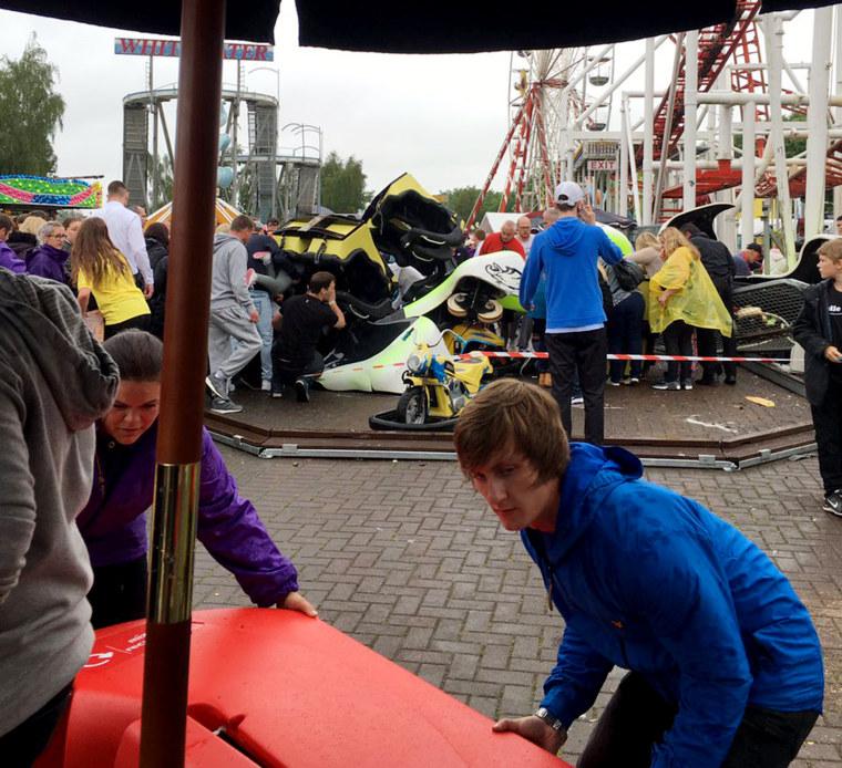 IMAGE: Scottish roller coaster accident