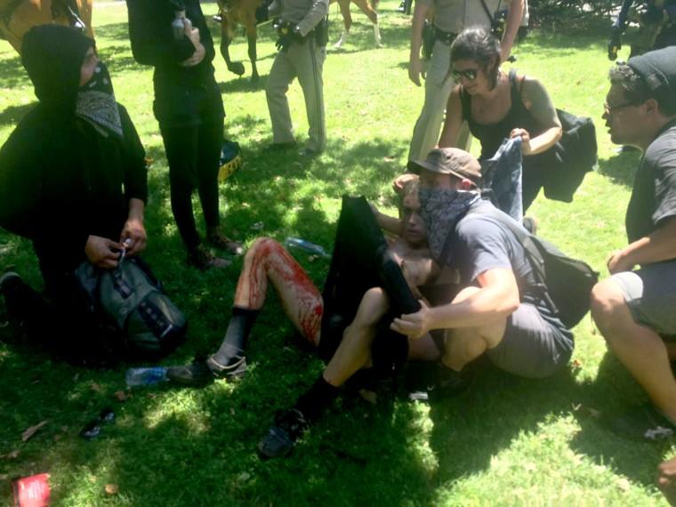 IMAGE: Sacramento protest violence