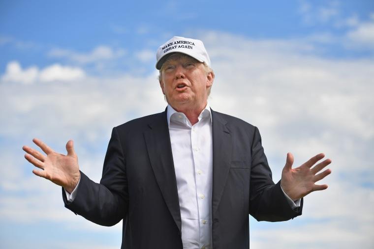 IMAGE: Donald Trump in Scotland