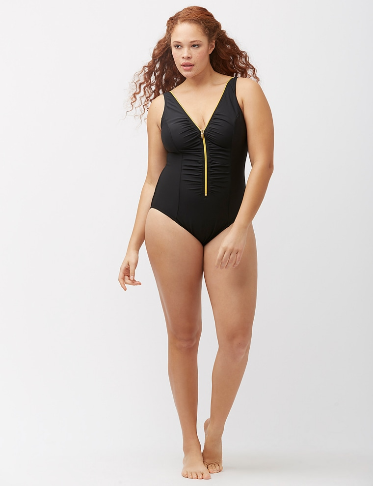 Black plus-size swimsuits