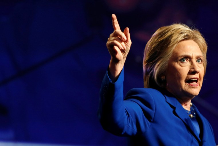 Image: Democratic presidential candidate Hillary Clinton addresses the Planned Parenthood Action Fund in Washington