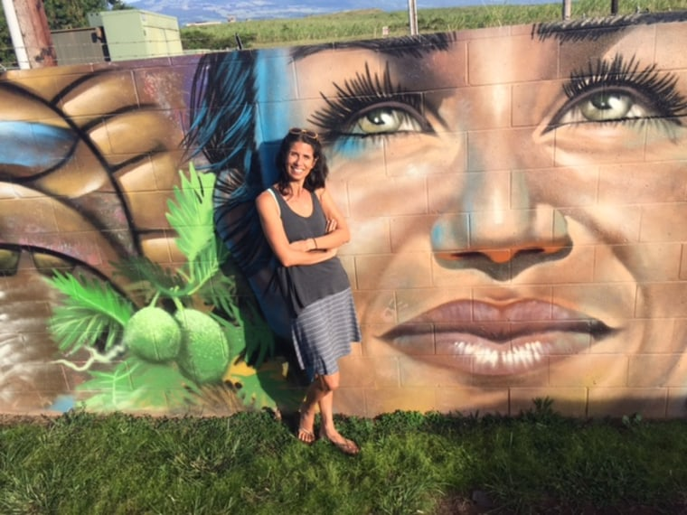 Shay Chan Hodges in Paia, where Congresswoman Patsy Mink, was born. Chan Hodges said Mink, the first woman of color ever to serve in Congress and a co-author of Title IX, is her personal hero.