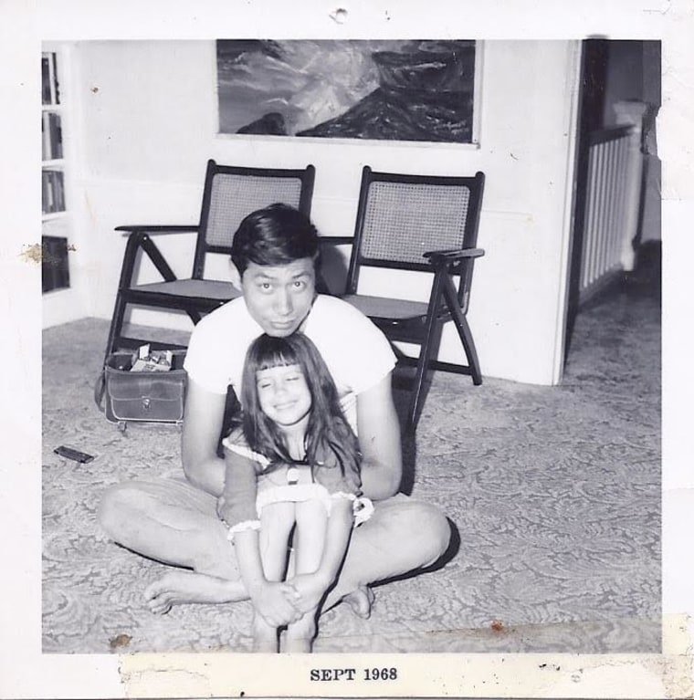 Shay Chan Hodges and her father in 1968, around the time he ran for supervisor in San Francisco, California.