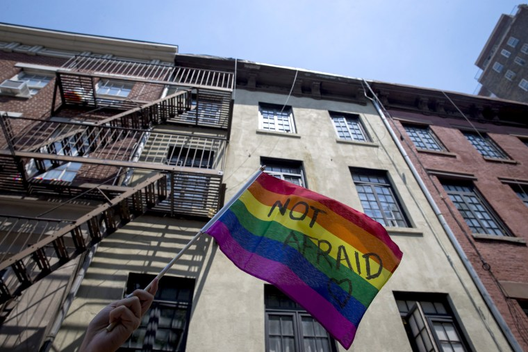 Image: New York's Annual Gay Pride Parade Takes Place In Wake Of Mass Shooting At Orlando Gay Club