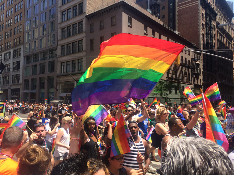A scene from the Pride Parade in New York City on Sunday, June 26, 2016.