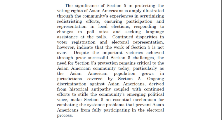 Ax excerpt of a 2013 amicus brief by the Asian American Legal Defense and Education Fund as well as 25 other Asian-American advocacy organizations.