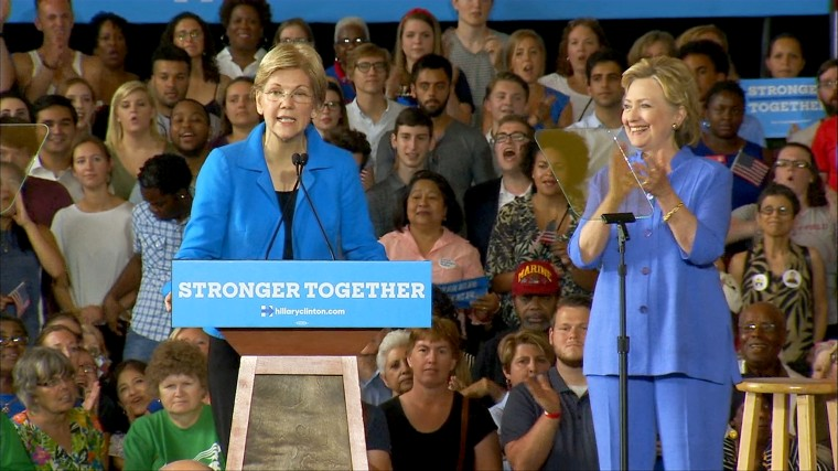 Image: Warren and Clinton