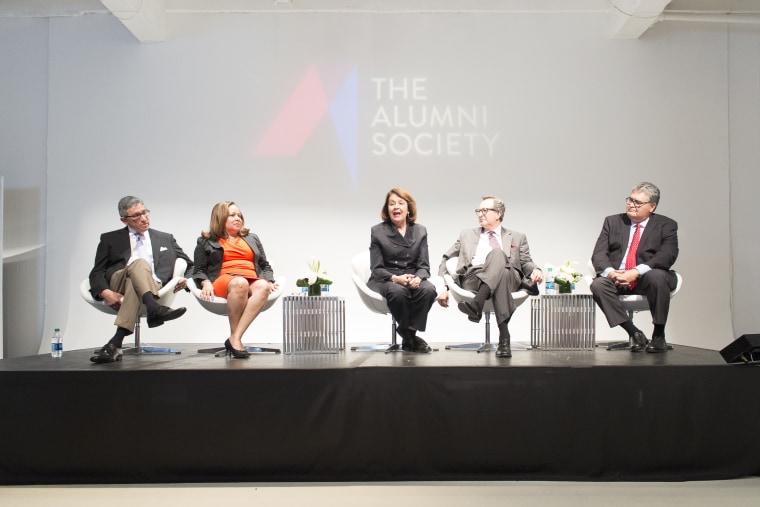 Ada Alvarez is on HP's board of directors speaking at The Alumni Society's leadership summit