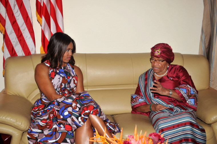 Image: Michelle Obama, Ellen Johnson Sirleaf