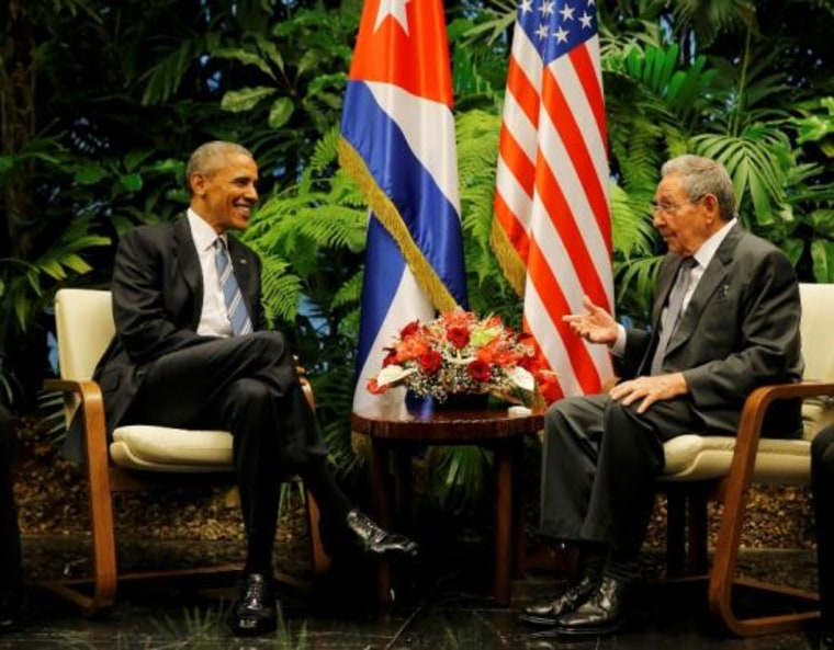 U.S. President Barack Obama and Cuba's President Raul Castro meet in Havana