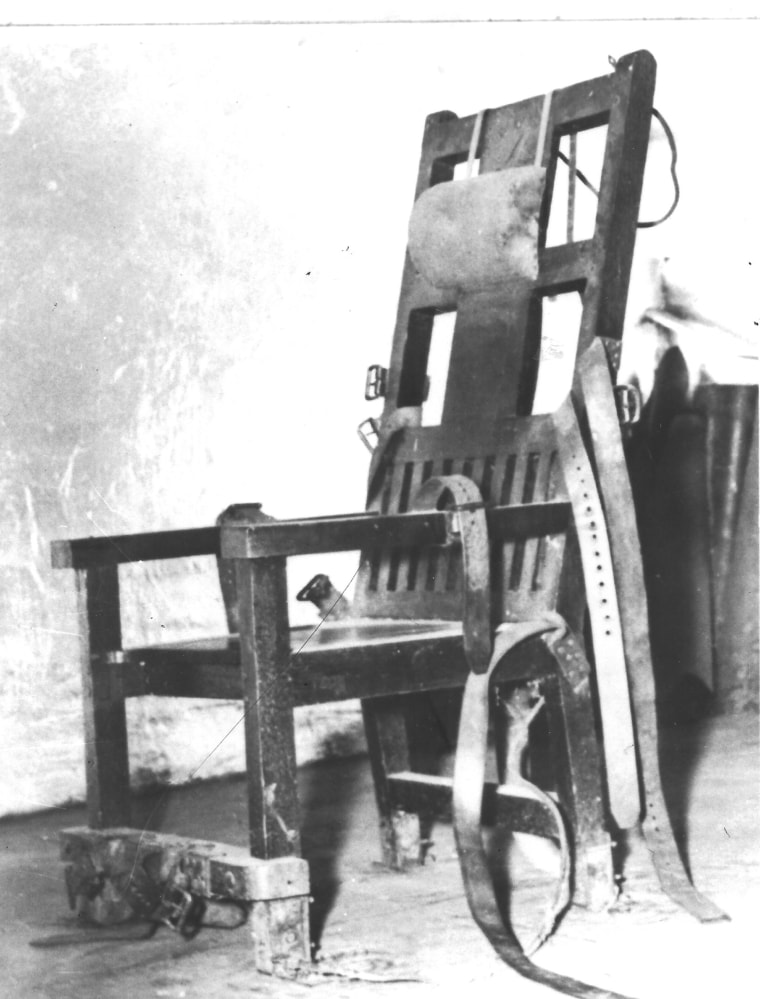 """""""Old Sparky"""" the electric chair that was once used at the Oklahoma State Penitentiary."""
