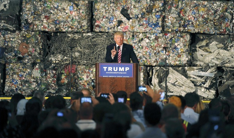 Image: Republican U.S. presidential candidate Trump delivers speech in Monessen, Pennsylvania