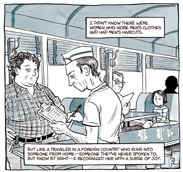"""A comic from Alison Bechdel's graphic novel """"Fun Home"""""""