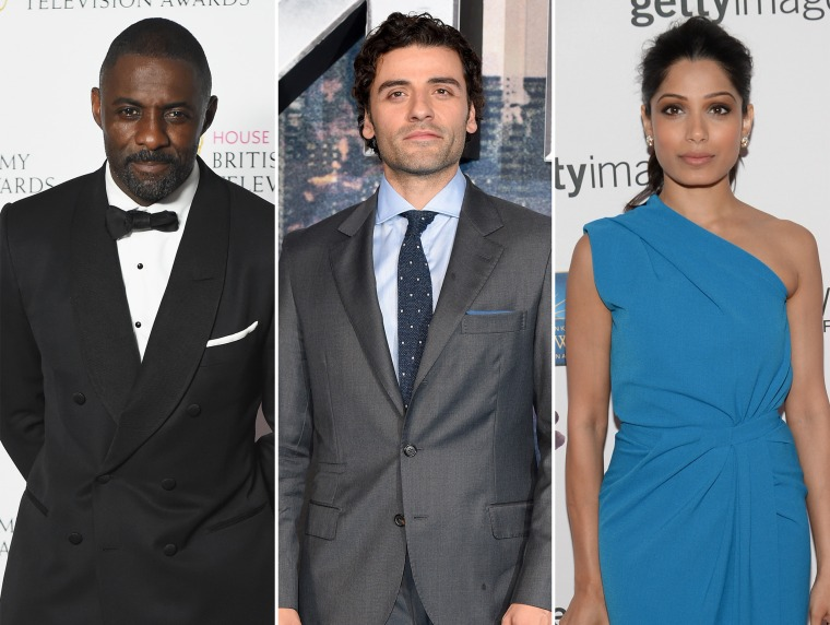 New Academy members Idris Elba, Oscar Isaac and Freida Pinto