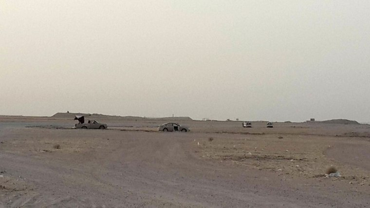 Image: Suspected ISIS vehicles