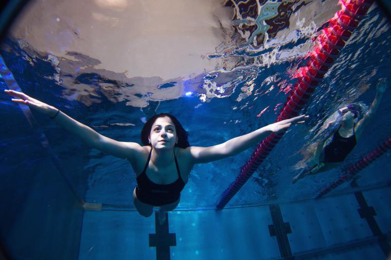 Refugee Swimmer Yusra Mardini - Photocall