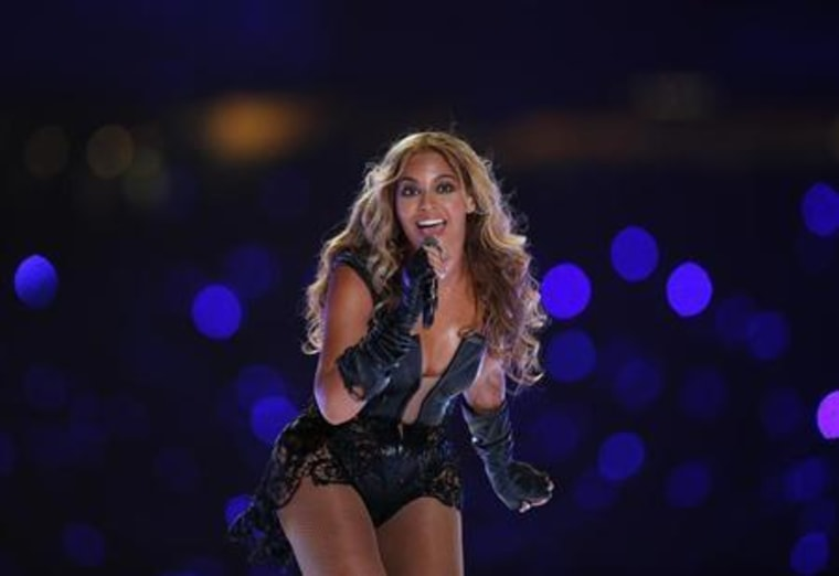 Beyonce performs during the half-time show of Super Bowl XLVII in New Orleans