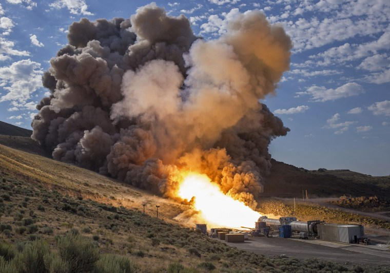 Image: Booster Test for Space Launch System Rocket