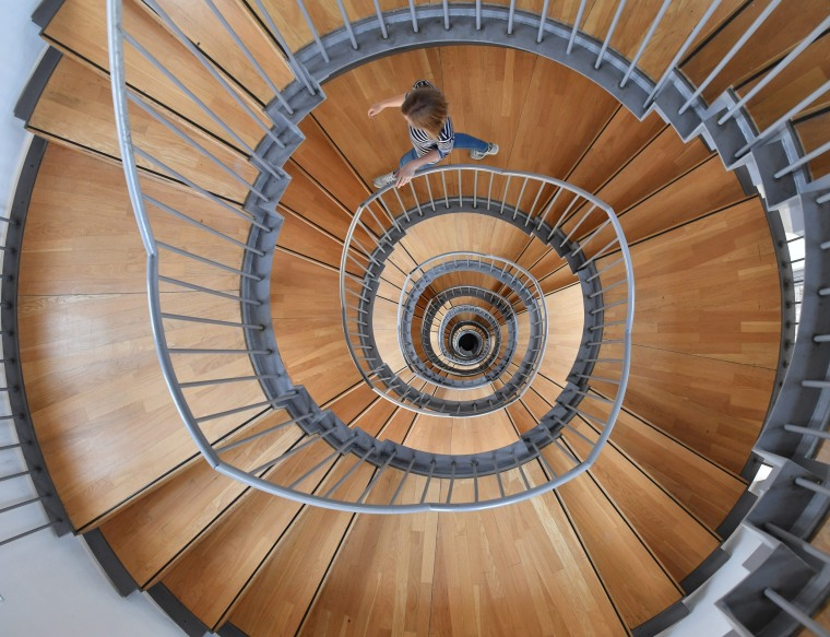 Image: Spiral staircase at the Gottesaue castle