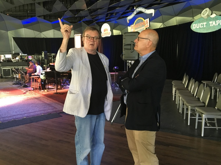 Harry Smith and Garrison Keillor