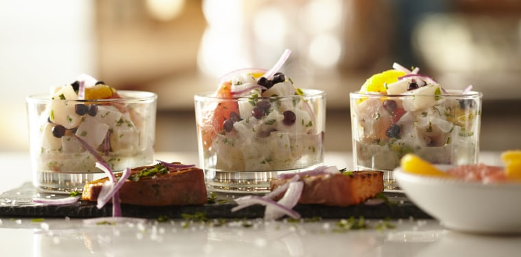Citrus Ceviche with Grilled Sweet Potato