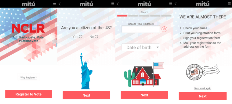The National Council of La Raza and mitu teamed up to create the LatinosVote voter registration app.