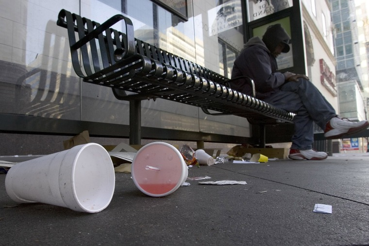 Image: Used styrofoam cups are seen on the streets in Oakland, California