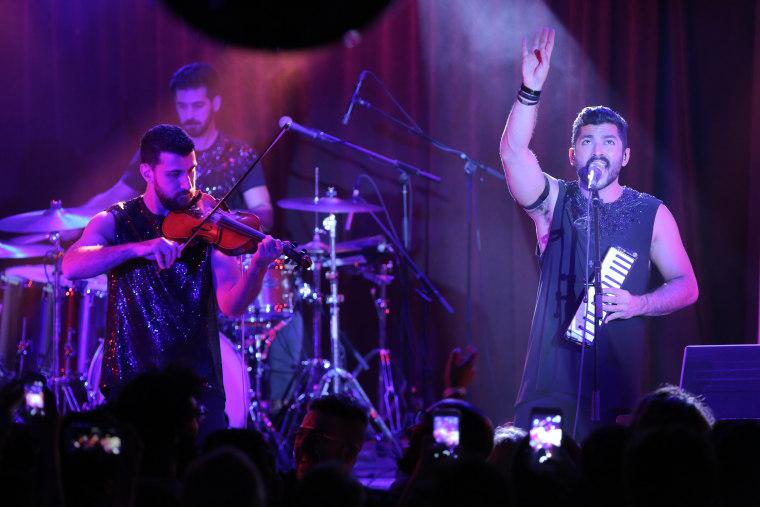 Lebanese band Mashrou' Leila plays in New York City.