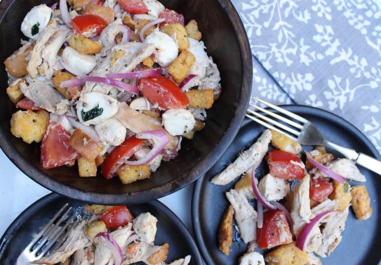 15-minute dinner: Roast chicken panzanella