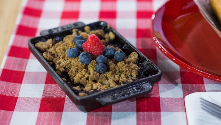 Raspberry Blueberry Crisp
