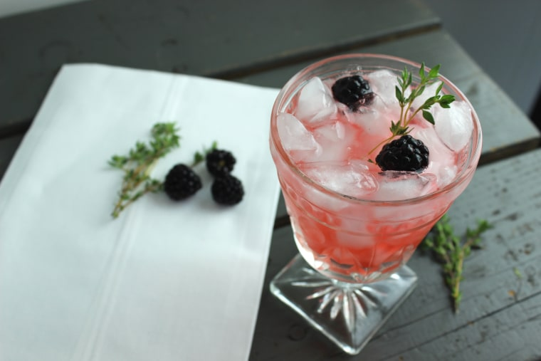 Blackberry Thyme Prosecco Cocktail