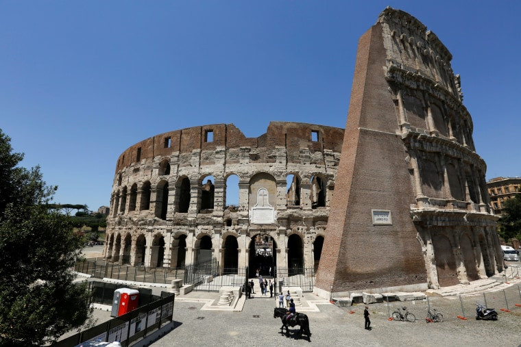 Image: A view of the Colosseum in Rome on July 1, 2016