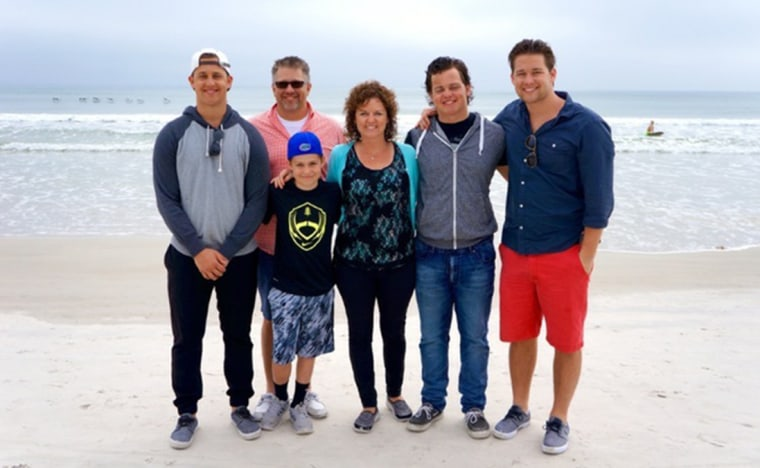 Image: Beau Solomon with his family