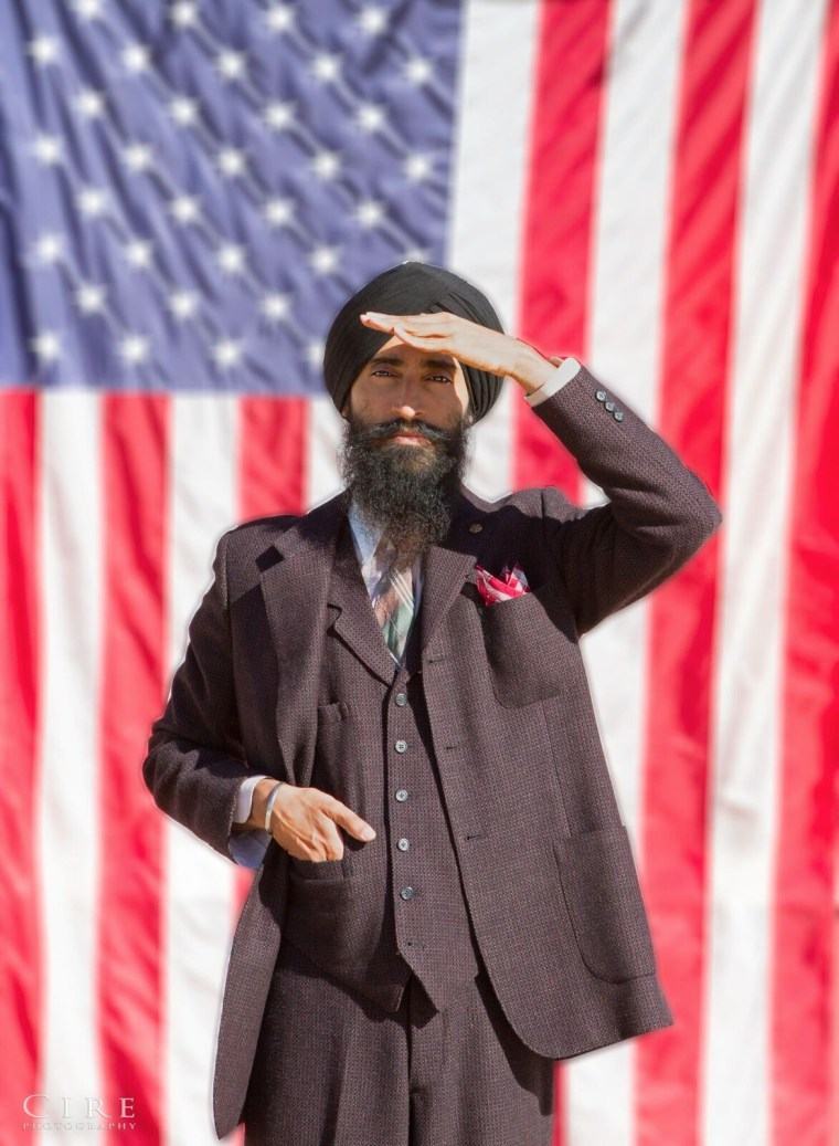 "American Sikh actor and designer Waris Ahluwalia as Bhagat Singh Thind in short film, ""All Quiet on the Home Front,"" based on the landmark 1923 U.S. Supreme Court citizenship case."